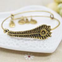 Acheter Bracelets de charme initiales-Livraison gratuite New Fashion Initial alphabet Bangle Jewelry câblage chanceusement bracelets pour hommes femmes charme pulseras