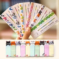 Wholesale Kitty Style Mini Pages Sticker Post It Bookmark Notepad Sticky Notes Office Supplies Drop Shipping OSS
