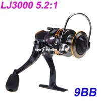 Wholesale 9BB Ball Bearings Left Right Interchangeable Collapsible Handle Fishing Spinning Reel Reels LJ3000 H10372