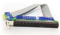 Wholesale 200pcs DHL PCI Express PCI e X TO X Adapter Converter Riser Card Extender Cable