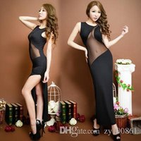 acme clothing - 2016 Hot selling black Sexy club dress Stage Serve Bar Clothing Longuette The Acme Temptation Reveal Back Close Package Buttocks