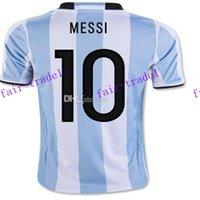 argentina soccer team messi - argentina messi home soccer jerseys thai quality customized copa america national team biglia soccer wear di maria soccer tops