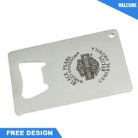 Wholesale Stainless Steel Credit Card Bottle Opener with Laser engrave logo Two different size choose custom print logo