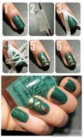 Wholesale 2pcs m cm French Manicure Nail Art Tips Creative Nail Stickers Masking Tape Do Pattern Nail Repair Tools Nail Decoration