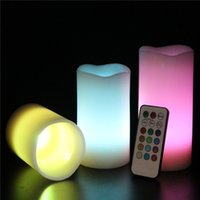 Wholesale Creative Romatic Flameless Magic Electric Candle Light Colour Changing LED Candle Wedding Christmas Party Valentines Gift