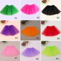 Wholesale Candy color kids tutus skirt dance dresses kids baby bubble skirt girl tutu dress ballet skirt pettiskirt clothes