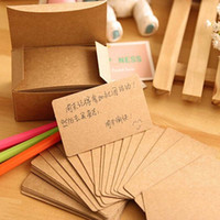 Wholesale 200 Sheets Boxes Sets Vintage Kraft Paper Cards Notes Notepad Filofax Memo Pads Office Supplies School Office Stationery