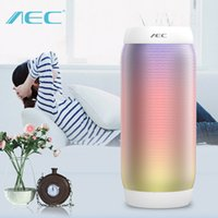 aluminum tube speaker - Led shining dancing Bluetooth speaker tube amplifier amplificador top quality power amplifier with handfree blue red black