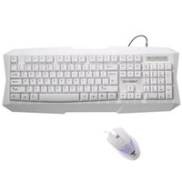 Wholesale Hui Hai MK02 professional game keyboard mouse set mechanical heavy a pure white suit