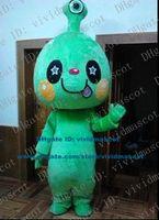 adult alien costume - Smart Green Alien Extra terrestrial Intelligent Beings Saucer Man Extraterrestrial Mascot Costume Cartoon Character Adult ZZ82