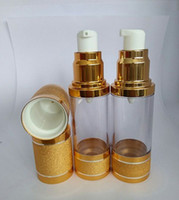 Wholesale ml Golden Beauty Cosmetic Lotion Airless Bottles E Liquid Acrylic Perfume Container With Sprayer