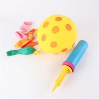 ball inflator pump - Party Balloon Inflator Air Pump Mini Plastic Hand Held Ball x5cm Portable Useful Balloon Decoration Tools