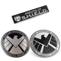 aluminum metal roofing - 2016 Newest Avengers Marvel Agents of SHIELD D Chrome Metal Car Sticker Badge Emblem Decals