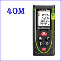 Wholesale 40M M Hand held Laser Distance Meter Digital Bubble level Laser Rangefinder