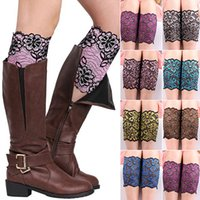 Wholesale Women Fashion Stretchy Lace Flowers Boot Leg Warmers Cuffs Soft Laced Boot Socks