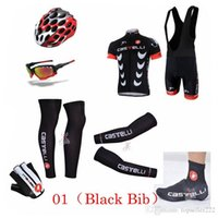 anti uv gloves - 2014 Hot Sale Ca s telli Cycling Jersey Sets Bib None Bib Set With Arms Gloves Legs Helmets Shoes Covers Cycling Glasses XS XL