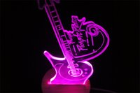 Wholesale Prince Prince rock singer guitar lamp Custom birthday present d desktop lamps