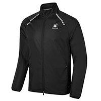 Wholesale Kelme K062 Men Long Sleeve Thin Stand Collar Quick drying Breathable Running Sport Jacket Black