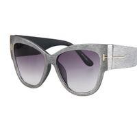 ai sol - New style grain big frame sunglasses women top quality multicolor cat eye women sunglasses simple fashion ai hot sun glasses gafas de sol