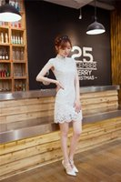 Wholesale Of the summer dress lace dress skirt Collar cheongsam cultivate one s morality show thin package hip one pace skirt restoring ancient w