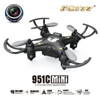 Wholesale F17687 FQ777 C MINI With MP Camera Headless Mode G CH Axis RC Quadcopter RTF Support SD card Drone