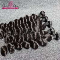 Wholesale 4pcs AAAAAAA Brazilian Loose Deep Wave Virgin Hair Extensions Loose Curly Hair Weave Weft Wavy Hair Bundles Natural Black Dyeable
