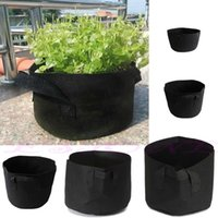 Wholesale A96 Black Fabric Pots Plant Vegetable Pouch Round Aeration Pot Container Grow Bag
