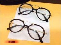animal shaped cases - luxury brand glasses Prescription TF5346 Tom TF logo eyeglasses frame pilot shape men brand eyeglasses optial with original case