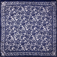 bandana paper - 100 Silk Scarf Women Scarf Chinese Paper Cutting Art Hot Hijab Middle Square Silk Scarf Female Big Bandana Gift for Lady