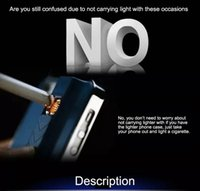 cell phone cigarette lighter - Cell Phone Cases For iPhone s Plus Electronic Cigarette Lighter Case For iPhone s SPlus Mirror PC Back Cover Protector