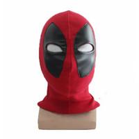 Wholesale Koveinc Halloween Deadpool mask Cosplay Costume Lycra Spandex Mask Red Adult sizes Rib Fabrics Full Face Mask