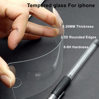 Wholesale 9H tempered glass For iphone plus s plus s SE s screen protector protective guard film front case cover