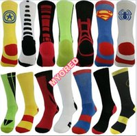 army towel - 21style men s solid elastic big towel bottom compression sport crew socks Superman Batman flashman spiderman captain america basketball sox