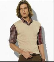 Wholesale new SALE new autumn and winter fashion sweater vest men s V neck sweater vest sleeveless vest men warm Black red blue gray dark gray