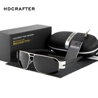 authentic vintage sunglasses - 2016 Sunglasses HDCRAFTER Authentic Man Sunglasses Classic Vintage Goggle Summer Glasses Polarized UV400 Multicolor Oval Mirror Alloy Frame