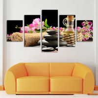 abstract art paintings images - Fashion piece Modern SPA Flower and stone Paintings HD Large image canvas wall Art Home Decorative hanging Picture No Frame