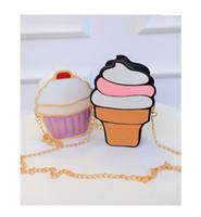 Wholesale womem ice cream Bags PU leather Messenger Bags candy colours Small Size handbags cake bag bag ZA0085