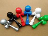 Wholesale 100pcs cm many colors full pu Paint Kendama Ball toy Skillful Jling Game Ball Japanese Traditional Toy Balls Educational Toys DHL