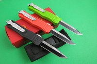 Wholesale 45 styles Microtech Combat Troodon A161 A162 A07 A16 UTX UTX C Steel Navy Scarab Halo Makora Nemesis knife knives with nylon pouch