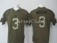 army service uniform - Newest Buccaneers Jameis Winston Salute To Service Stitched Army Green Embroidery Logos Men s America Football Jerseys Uniforms