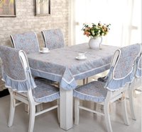 Wholesale Table cloth upholstery coverings suit rectangular coffee table cloth cloth Bedside tables and chairs set