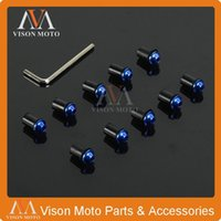 Wholesale X Motorcycle M5 mm Windscreen Windshield Bolts Screw Kit for Yamaha YZF R1 R6 FZ6R FZ6 XJ6S XJR400 FZ1