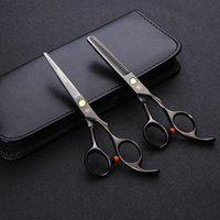 Wholesale Professional Japan Hair Scissors Set inch Barber Hairdressing Cutting Thinning tijeras peluqueria with leather pouch
