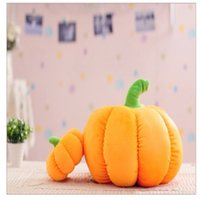 Wholesale New Halloween pumpkin plush toys cartoon pumpkin pillow Halloween pumpkin decoration for kids for Halloween Christmas decoration