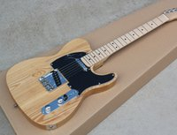 ash wood color - Original Wood Color Electric Guitar Ash Body Chrome Hardware Black Pickguard Can be Customized as Request