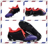 Wholesale Cheap New Style Training Sneakers Men s X Purechaos FGAG Black Purple Pink Soccer boots Shoes Football Boots Running Shoes