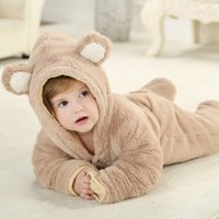 Wholesale Children Clothes Design For Boys - Autumn Rompers 2016 Animal Hooded Rompers For Boys And Girls nEW dESIGN Winter Jumpsuit Popular Children Clothing