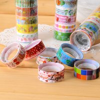 Wholesale Korean cute cartoon tape color DIY color transparent tape stationery adhesive plaster decoration album