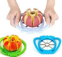 abs easy - Apple cutter knife Corer Slicer Easy Cutter Fruit Knife For Apple Pear Stainless Healthy and Safe ABS random color Kitchen Dining Bar tools