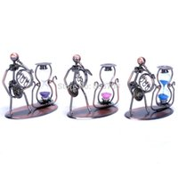 Wholesale iron man band love the hourglass small ornaments home decorations wrought iron handicrafts